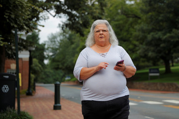 Susan Bro, mother of Heather Heyer, arrives at the University of Virginia in Charlottesville