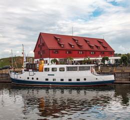 KLaipeda,boat to the quay