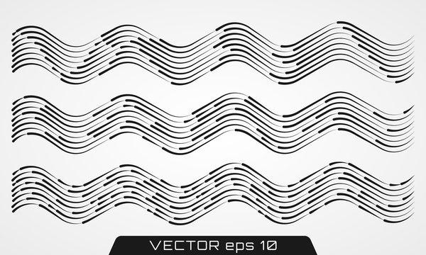 Transparent waved lines.