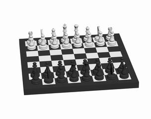 Schachbrett mit Spielfiguren