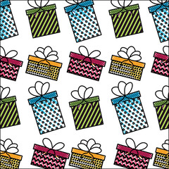 birthday gift boxes surprise bow decoration pattern