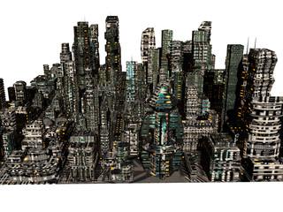 Skyline von Hochhäusern einer Metropole