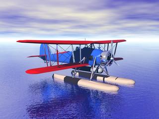 Wasserflugzeug mit Propeller