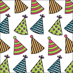 birthday party hats ornament decoration pattern drawing