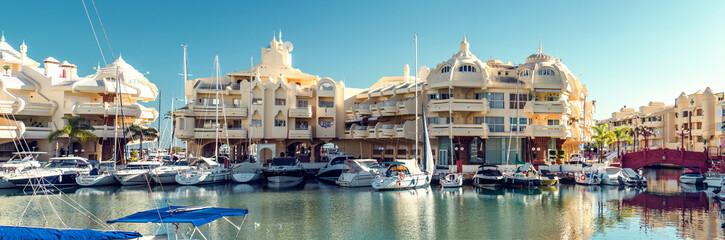 Puerto Marina at the Benalmadena city. Costa del Sol. Spain