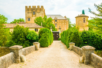 A romantic small castle in Provence in France