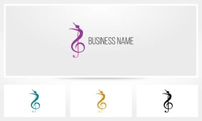 Clef Dancing Ballet Logo