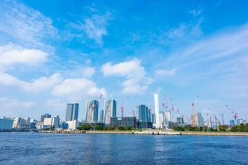 晴海の選手村建設 Construction work in Harumi ,Tokyo