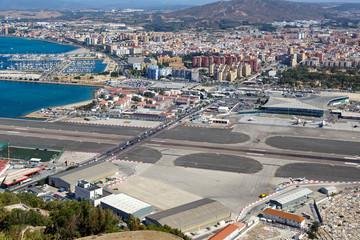 Gibraltar Flughafen Airport Urlaub Spanien