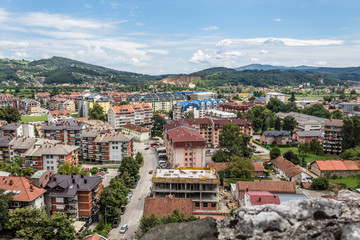 A view of city Doboj from the Fortress (Bosnia)