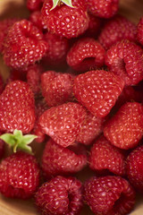 a lot of fresh and ripe raspberry