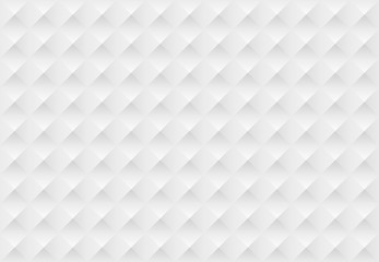 White seamless horizontal geometric pattern. Vector volumetric texture.