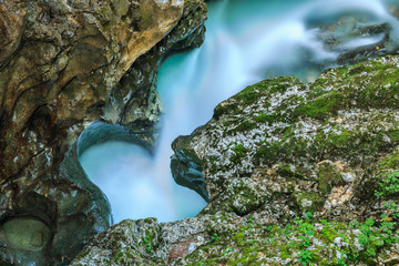 Mostnica gorge near Bohinj in Slovenia