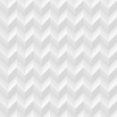 White seamless zigzag geometric pattern. Vector volumetric background