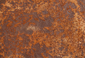 Texture of rusty iron. The view from the top.
