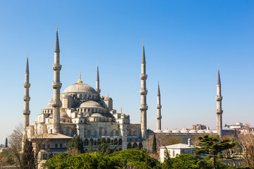 The Sultanahmet Mosque (Blue Mosque) in Istanbul, Turkey.