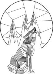 Heulender Wolf Geometrisch