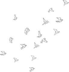Vogelschwarm Geometrisch