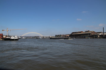 Bridge over the river Noord at Alblasserdam in the Netherlands