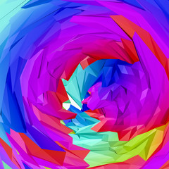 multicolored three-dimensional abstract background. 3D rendering