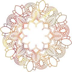 mandala mehndi ethnic paisley buta hindu oriental ornament, red curl, floral motif