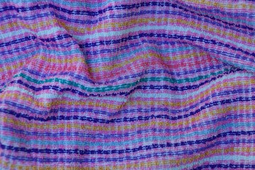 bright texture of cloth from strips on fabric