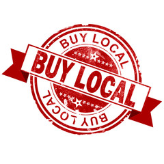 Buy local red vintage stamp