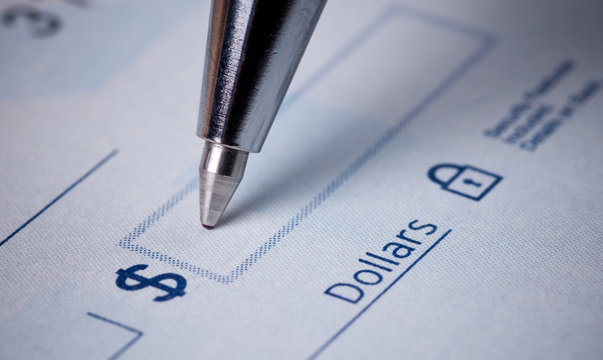 Making payments , writing the check