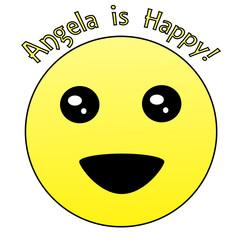 Angela Is Happy - Original Emoji Design