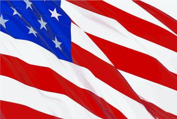 Print US Flag