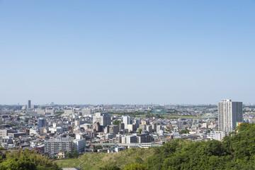 生田緑地の枡形山山頂からの風景(北の方向)