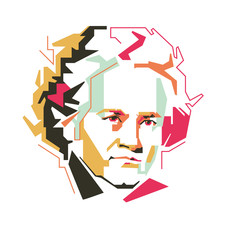Ludwig van Beethoven vector illustration