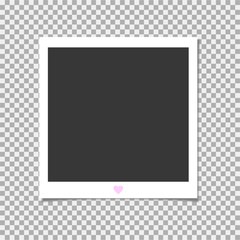 Photo frame. Vector template for your trendy photo or image