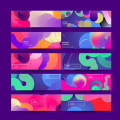 Fluid color background. Liquid shape . Eps10 vector.