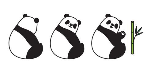 Bear vector panda icon Polar Bear logo bamboo cartoon character illustration doodle