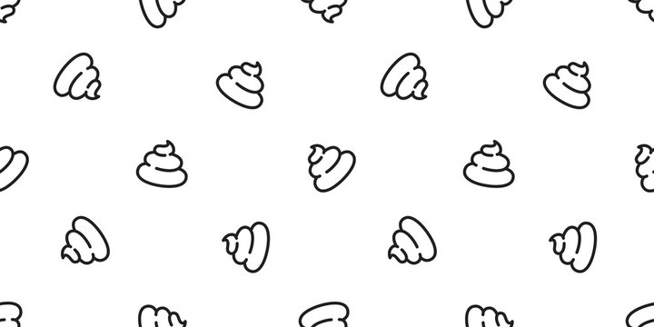 Poo Seamless pattern vector Cartoon isolated doodle illustration repeat wallpaper tile background