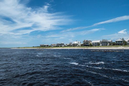 Bald head Island North Carolina - Summer scenes for vacation, travel, tourism and weekend getaway
