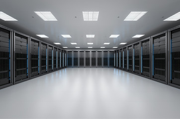 interior server room