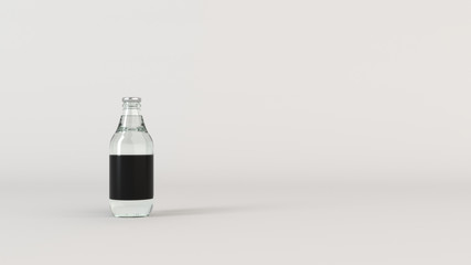 Mock up of water bottle with blank label