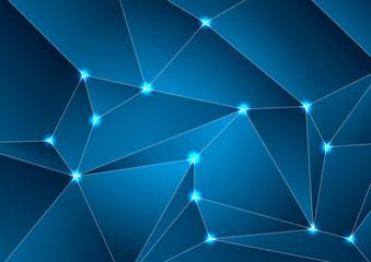 Dark blue tech abstract polygonal background