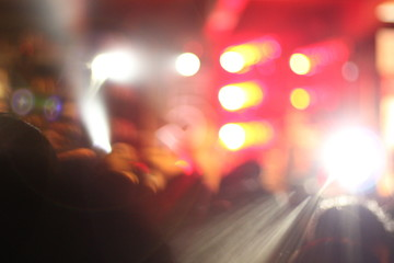 Bokeh and blur light live concert abstract background