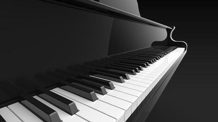 グランドピアノ 鍵盤 パース 寄り