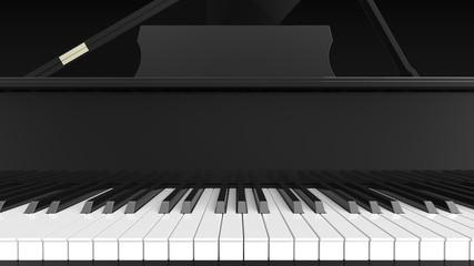 グランドピアノ 鍵盤 正面 寄り