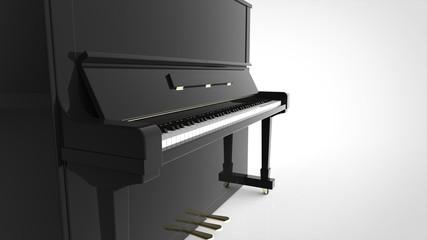 アップライトピアノ 寄り 右コピースペース