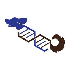 Dog with dna logo icon vector, dog logo template