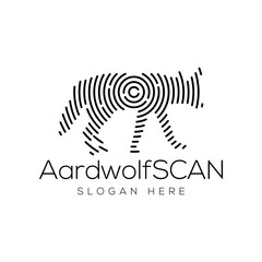 Aardwolf Scan Technology Logo vector Element. Animal Technology Logo Template