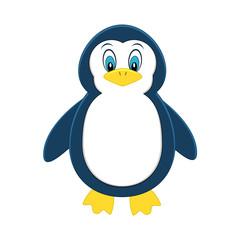 Cute cartoon penguin. Exotic animal. Vector illustration.