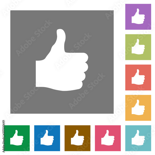 Thumbs Up Square Flat Icons Stock Image And Royalty Free Vector