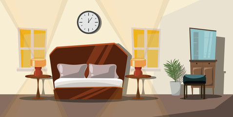 bedroom vector illustration