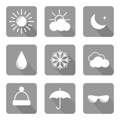 Set of weather icons. Vector illustration.
